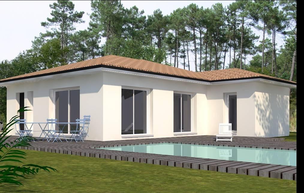 Villa Contemporaine 90m Piece De Vie Avec Cuisine Ouverte Garage