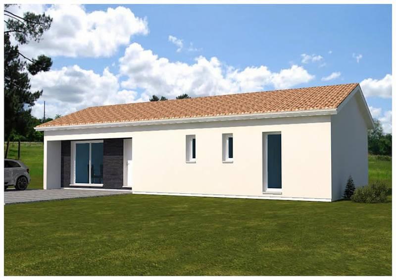 Construction d 39 une villa contemporaine de 140 m compos e - Deux maisons sur un seul terrain ...